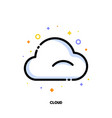 icon cloud which symbolizes cloud computing vector image vector image