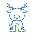 isolated cute standing deer vector image vector image