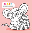 kid logic maze game puzzle mouse order printable vector image vector image