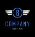 letter b automotive creative business logo vector image vector image
