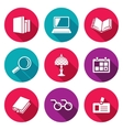 Library Icons Set vector image vector image