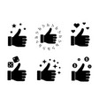 like glyph icons set vector image vector image