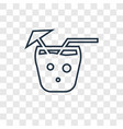 mai tai concept linear icon isolated on vector image
