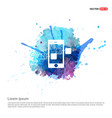 mobile share icone - watercolor background vector image