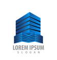 modern 3d building estate logo concept design vector image