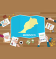 morocco africa economy country growth nation team vector image vector image