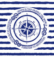 Nautical emblem with compass vector image vector image