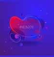 neon fluid color gradient background blue and red vector image vector image