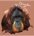 orang utan in mosaic style vector image vector image