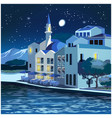 picturesque quay at night vector image vector image