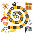 pirate board game template vector image vector image
