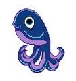 pixel octopus vector image
