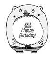 Postcard Happy Birthday and the Bear vector image