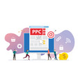 ppc pay per click technology advertising or vector image vector image
