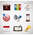 Realistic Business Icons vector image vector image