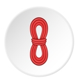 Red rope icon cartoon style vector image vector image