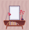 retro interior with frame for copyspace vector image
