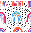Seamless childish pattern with hand drawn