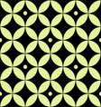 Seamless geometric pattern of yellow circles vector image