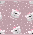 seamless pattern with cartoon monkey vector image vector image