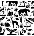 seamless pattern with woodland forest animals vector image