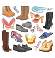 set different shoes vector image