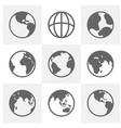 set earth planet globe logo design earth vector image vector image