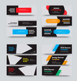 set horizontal web banners with place for vector image vector image