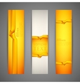 set of banners with yellow ribbons vector image vector image