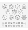 Set of geometric hipster shapes and arrows4f77 vector image vector image