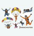 set parachuter vector image