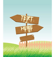 signposts vector image vector image