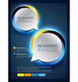 speech bubbles in infographic style vector image vector image