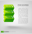 web business step infographics vector image