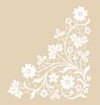 white lace corner vector image