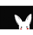 White Rabbit Dots Background vector image vector image