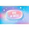 wine and music in design banner template vector image