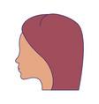 woman head silhouette cartoon vector image