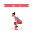 workout with dumbbells flat vector image vector image