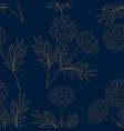 yellow marigold on indigo blue background vector image vector image