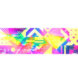 colourful glitch abstract background vector image