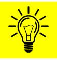 symbol light bulb on yellow background vector image
