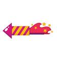 birthday flapper or firework petard design vector image