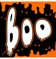 boo card vector image