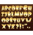 gold alphabet vector image