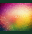 abstract polygonal colorful background with vector image vector image