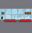 airport interior waiting hall departure lounge vector image vector image