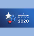 american presidential election 2020 background vector image vector image