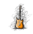 Art sketch of guitar for your design vector image vector image