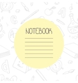 Back to school outline doodle notebook design and vector image vector image